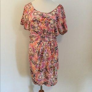 Cynthia Steffe Faux Wrap Cold Shoulder Mini Dress